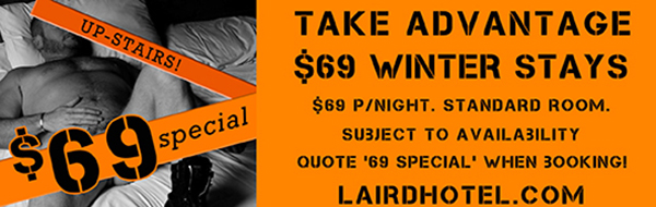 69 special accommodation laird hotel winter