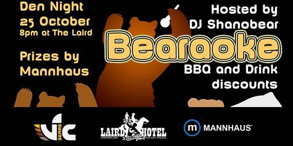 bearaoke october 2014 ther laird vicbears