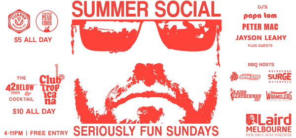 summer social laird sunday gay melbourne