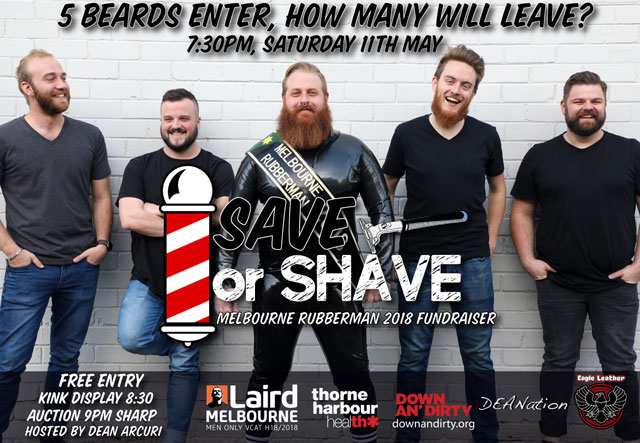 laird melbourne rubber man save or shave