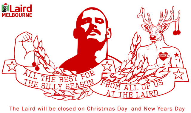 the laird christmas new years day closed gay melbourne